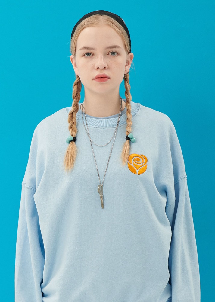 Essential Rose Sweatshirt [LIGHT BLUE]Essential Rose Sweatshirt [LIGHT BLUE]로씨로씨