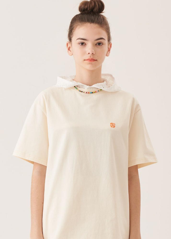 Rose High frequency T-shirts [CREAM]Rose High frequency T-shirts [CREAM]자체브랜드