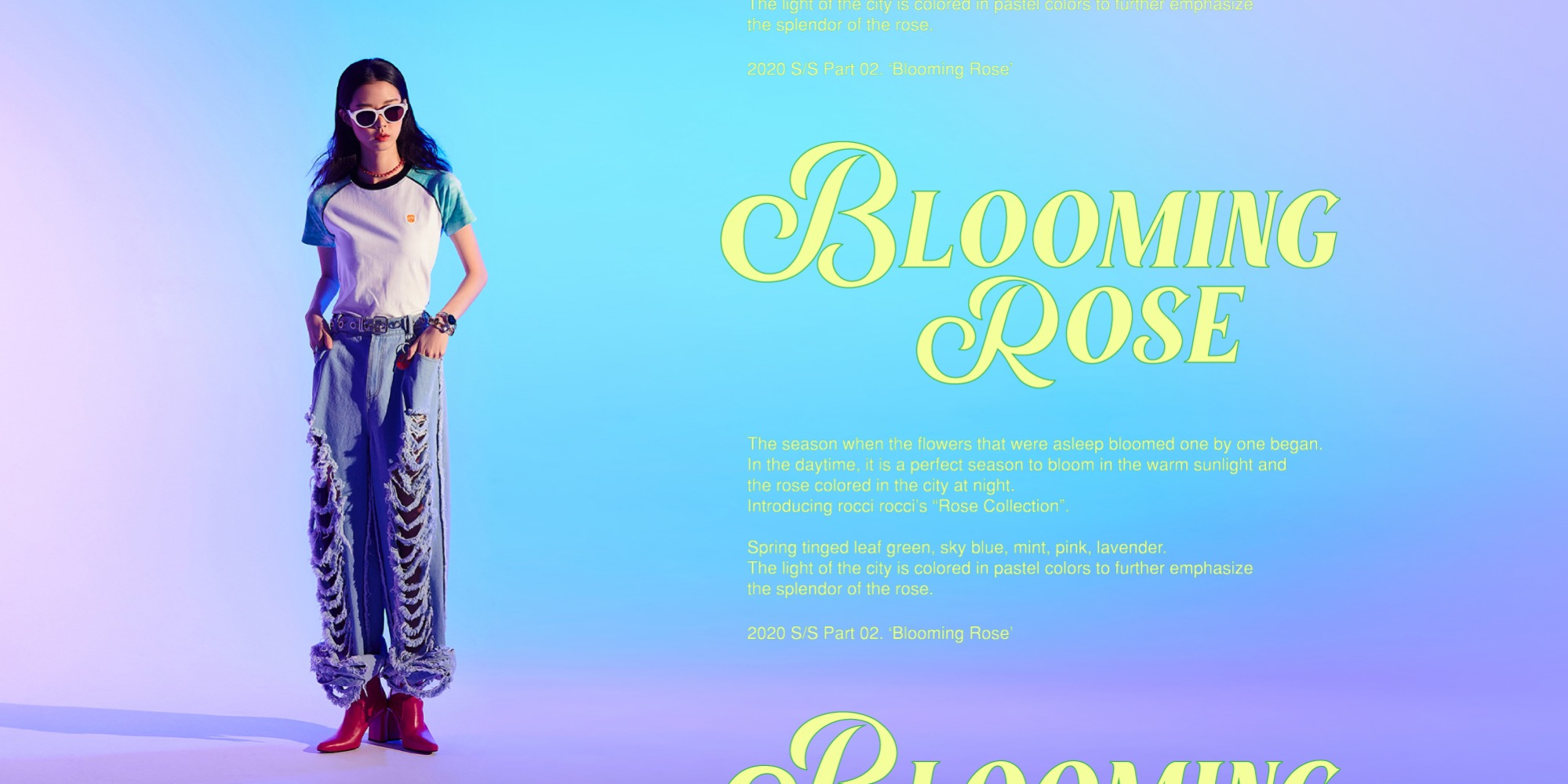 20 SS COLLECTION Part 02. Blooming Rose20 SS COLLECTION Part 02. Blooming Rose자체브랜드