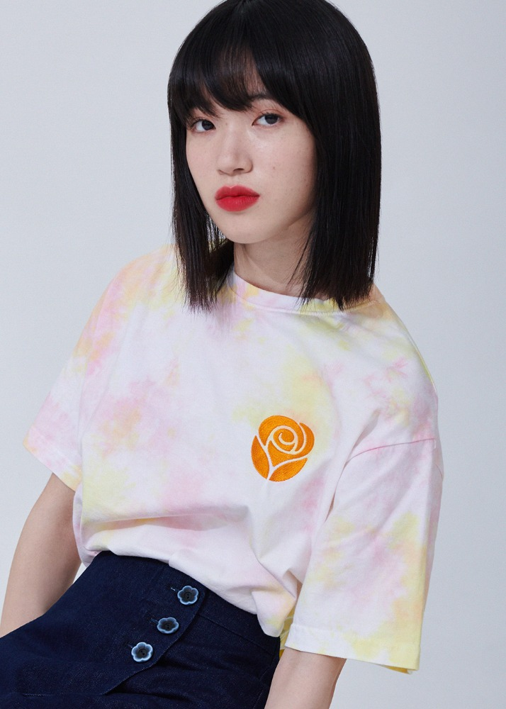 Essential Rose Tie dye T-shirts [RAINBOW]Essential Rose Tie dye T-shirts [RAINBOW]자체브랜드