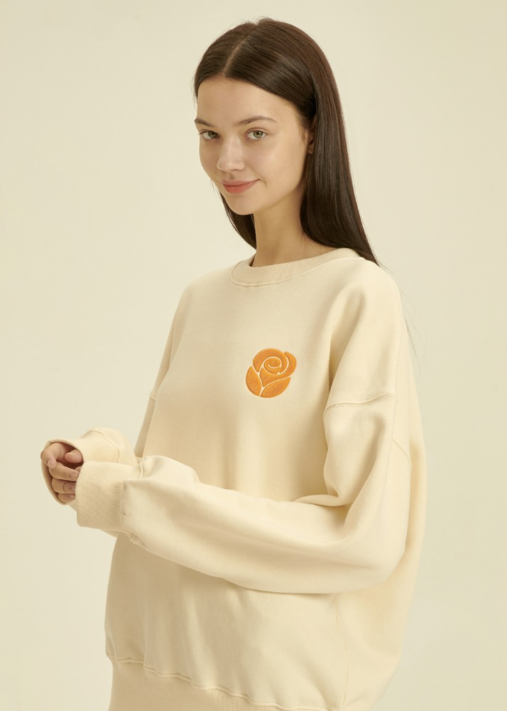 Essential Rose Sweatshirt [CREAM]Essential Rose Sweatshirt [CREAM]자체브랜드