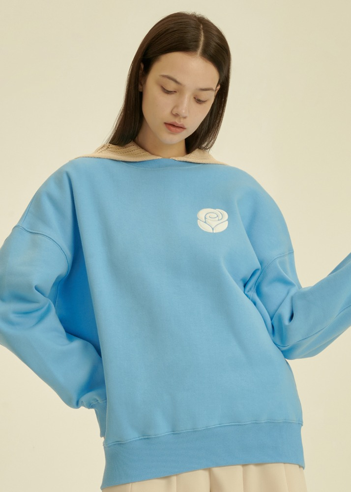 Essential Rose Sweatshirt [BLUE]Essential Rose Sweatshirt [BLUE]자체브랜드