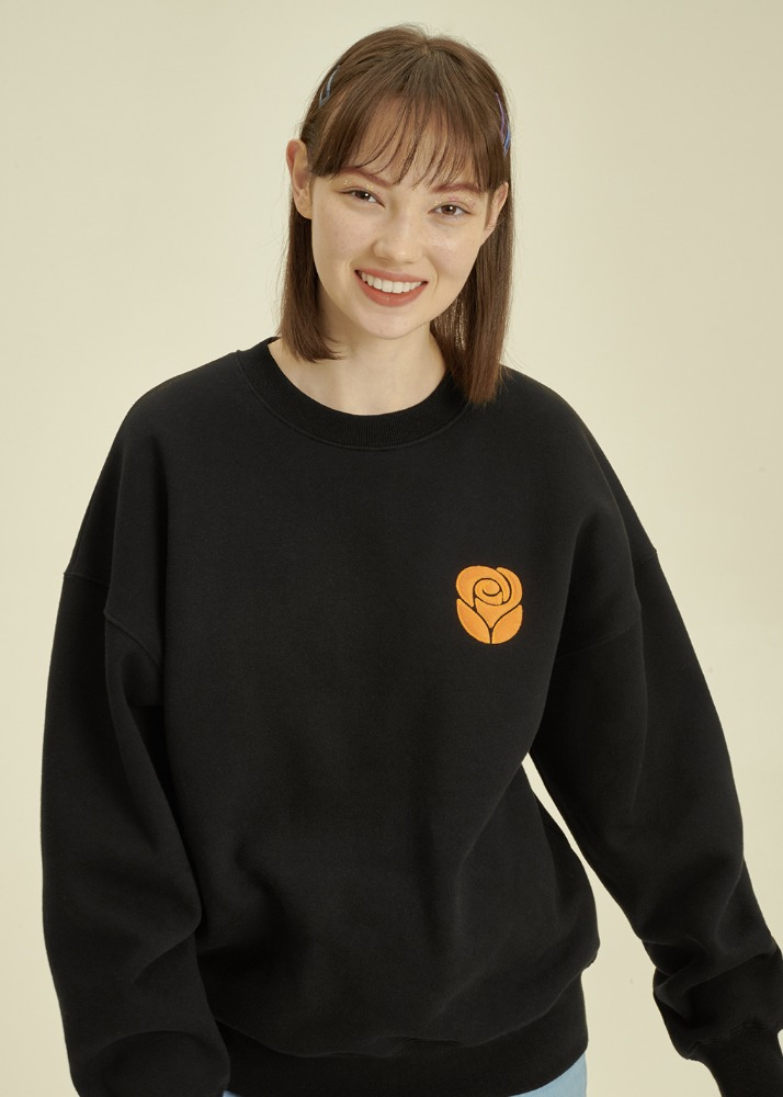Essential Rose Sweatshirt [BLACK]Essential Rose Sweatshirt [BLACK]자체브랜드
