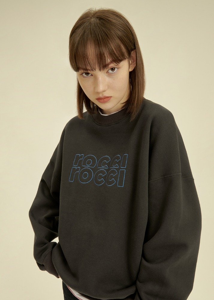 [크래비티 성민 착용] RCRC Double-Rib Sweatshirt [CHARCOAL][크래비티 성민 착용] RCRC Double-Rib Sweatshirt [CHARCOAL]자체브랜드