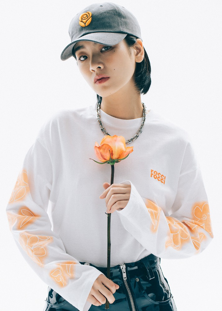 Flower drawing Long Sleeve T-shirt [WHITE]Flower drawing Long Sleeve T-shirt [WHITE]자체브랜드