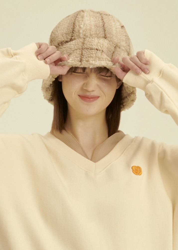 Fleece Bucket Hat [BEIGE CHECK]Fleece Bucket Hat [BEIGE CHECK]자체브랜드
