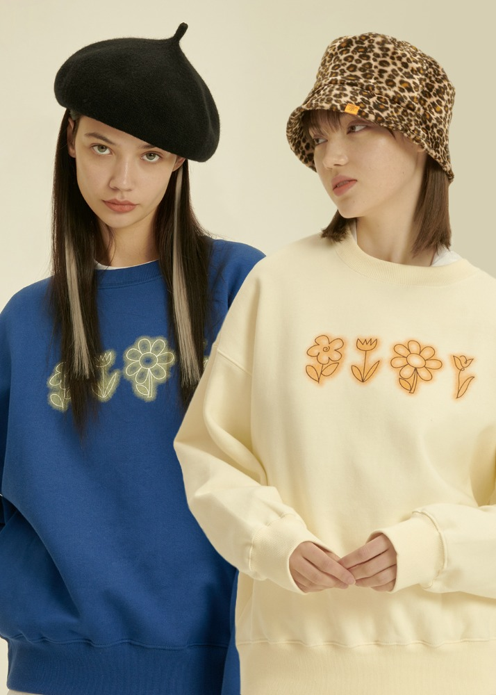 [1+1] Flower Drawing Sweatshirt[1+1] Flower Drawing Sweatshirt자체브랜드