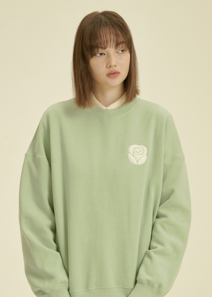 Essential Rose Sweatshirt [MINT]Essential Rose Sweatshirt [MINT]자체브랜드