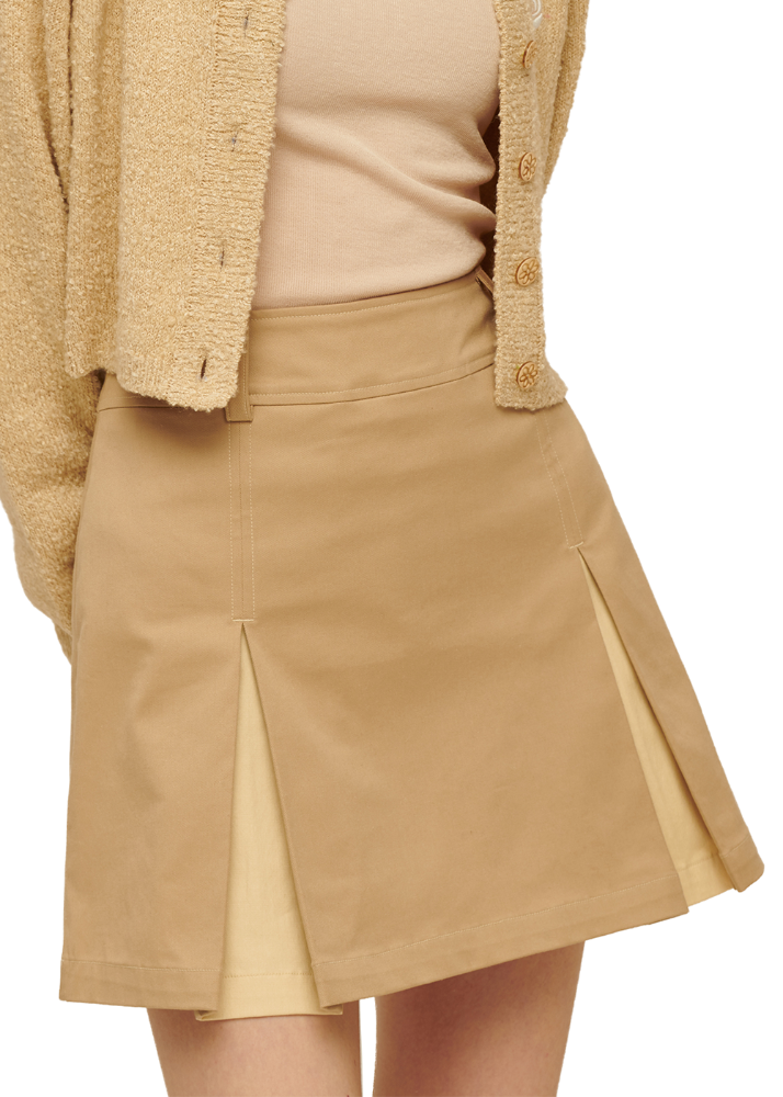 Slit Point Skirt [BEIGE]Slit Point Skirt [BEIGE]자체브랜드