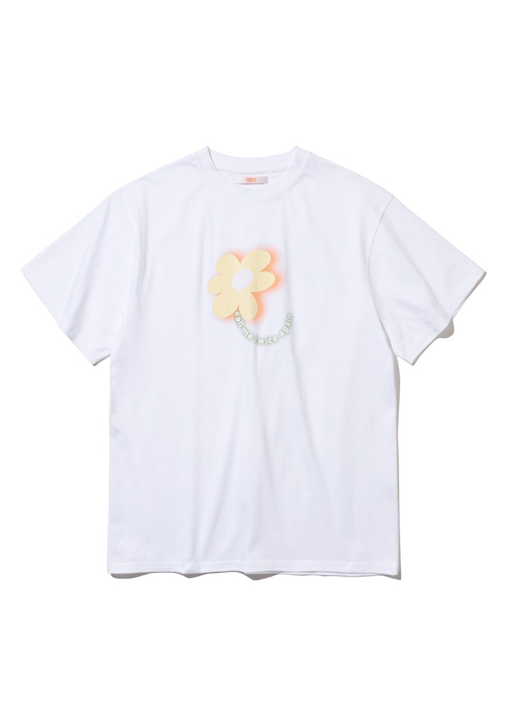 Flower Gradation T-shirt [WHITE]Flower Gradation T-shirt [WHITE]자체브랜드